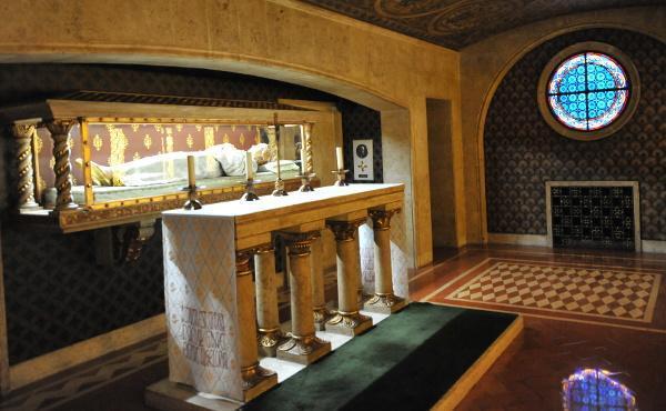 Un reliquiario di Guadalupe nella chiesa prelatizia