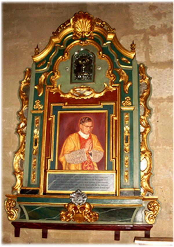 Bénédiction, à Cordoue, d'une relique de saint Josémaria Escriva