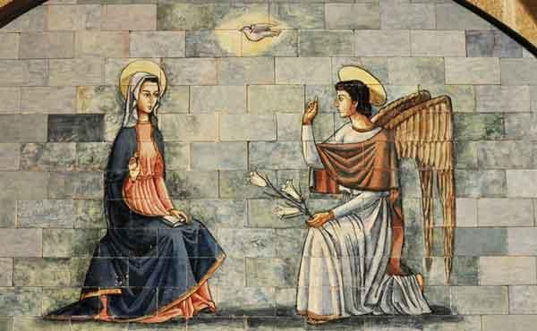De engel Gabriël brengt de blijde boodschap aan Maria
