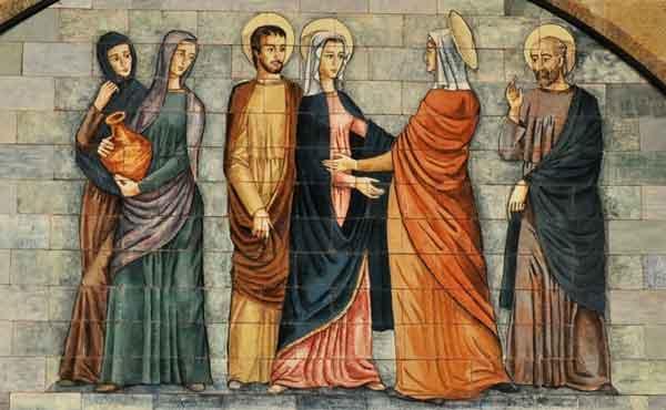 Maria bezoekt haar nicht Elisabet