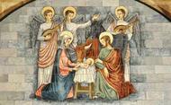 Jezus wordt geboren in een stal van Betlehem