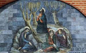 Jezus bidt in doodsangst tot zijn hemelse Vader