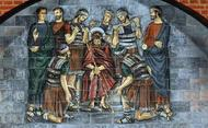 Jezus wordt met doornen gekroond