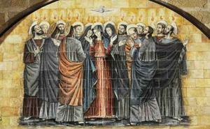 De heilige Geest daalt neer over de apostelen