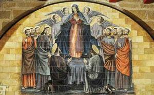 Maria wordt in de hemel opgenomen