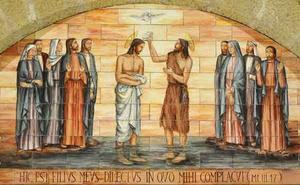 Jezus wordt gedoopt in de Jordaan