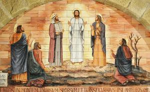 Jezus verandert van gedaante op de berg Tabor