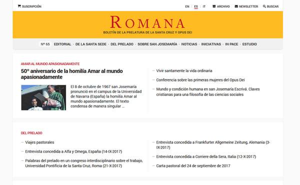 Opus Dei - Nuevo website de Romana