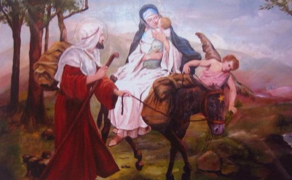 UNIV gir paven et maleri av Flukten til Egypt