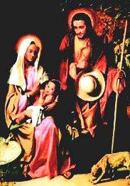La familia de Nazaret, modelo de las familias cristianas.