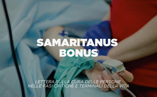 """Lettera """"Samaritanus bonus"""", sulla cura delle persone nelle fasi critiche e terminali della vita"""