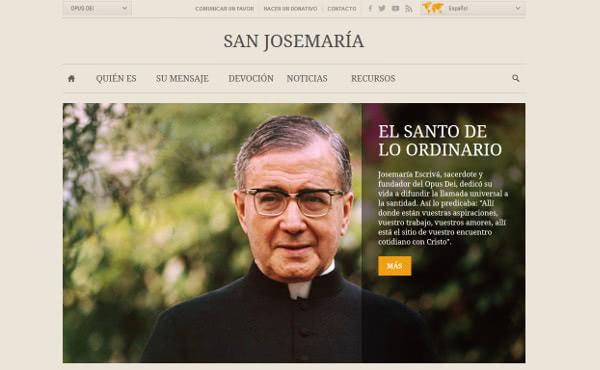 Opus Dei - Un website para san Josemaría