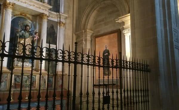Un cuadro de san Josemaría en la Catedral de Jaén