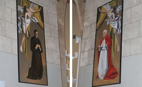 San Juan Pablo II y san Josemaría en la parroquia de la Asunción de Villajoyosa (Alicante)