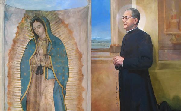 Con la Virgen morena de Guadalupe