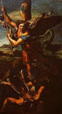 'Sankt Michael overvinder Satan' af Rafael.
