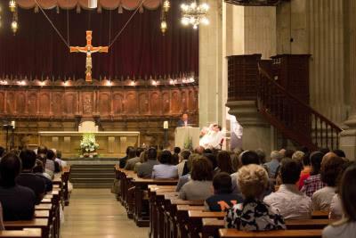 La Catedral de Lleida, en un moment de l'Eucaristia del 26 de juny del 2013. Foto: TN
