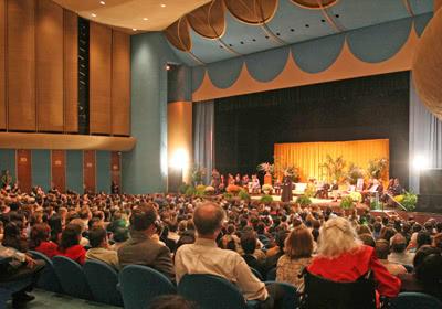 Une réunion avec le prélat de l'Opus Dei lors de son voyage à San Francisco, en 2006