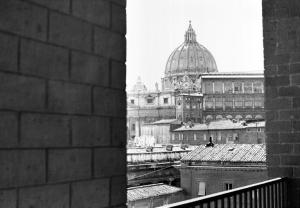 Vista de São Pedro de Città Leonina, primeira residência de S. Josemaria em Roma, 1946