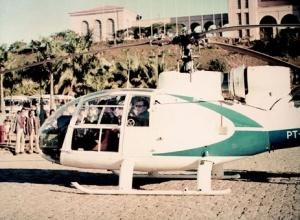 Sveti Josemaria helikopterom stiže iz Sao Paula u Aparecidu