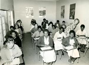 Estudantes de francês, en Kianda College, 1966