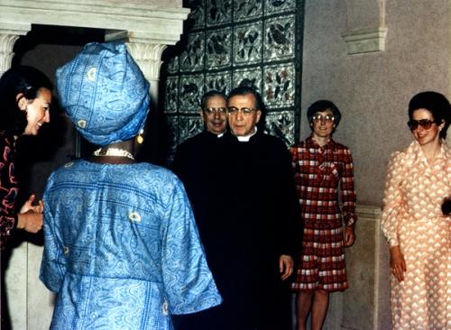 Última fotografía de san Josemaría. Villa delle Rose, 26 de junio de 1975