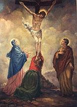 """""""La mise en Croix"""", fresque de Romano Cosci à la Résidence Universitaire Porta Nevia"""