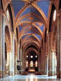 Das Innere der Kirche Santa Maria sopra Minerva