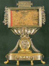 """Reliquiar mit dem """"Titulus Crucis"""""""