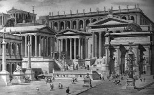 Das Haus der Vestalinnen neben der Via Sacra