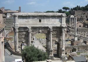 Der Triumphbogen des Septimus Severus