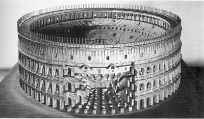 Rekonstruktion des Kolosseums im Museo della Civiltà Romana