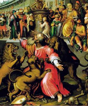 Das Martyrium des hl. Ignatius von Antiochien von Johann Kreuzfelder (1570-1636)