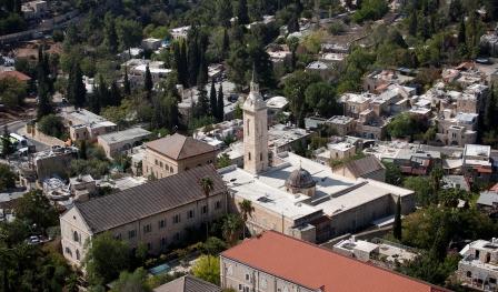 Vista aerea del santuario di San Giovanni Battista. Foto: Israel Tourism (Flickr).