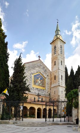 Il santuario della  Visitazione ad Ain Karim. Foto: Nicola e Pina (Panoramio).