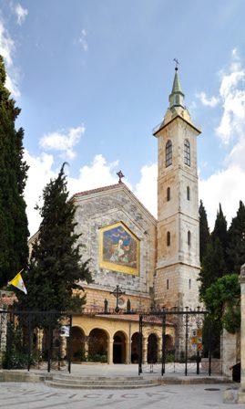 Die Basilika der Heimsuchung in Ain Karim. Foto: Nicola e Pina (Panoramio).