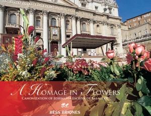 """Okładka książki """"A Homage In Flowers"""" autorstwa Bessie Briones"""