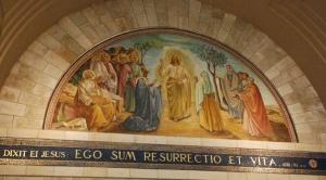 Scène qui représente l'une des apparitions de Jésus ressuscité. Photo : Alfred Driessen.