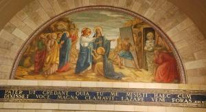 L'Eglise a une base en croix grecque : les murs sont décorés par les scènes principales qui ont eu lieu à Béthanie. Photo: Alfred Driessen.