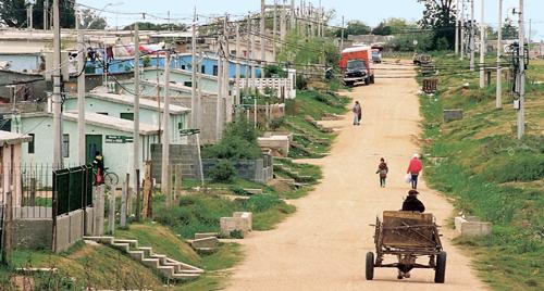 Das Armenviertel Casavalle in Montevideo (Uruguay)