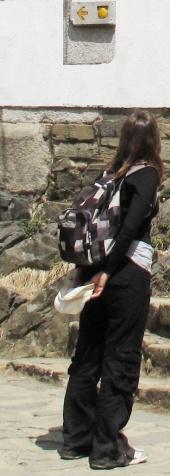 نظرة إلى سهم مشيراً إلى طريق مار يعقوب  (El Camino de Santiago)