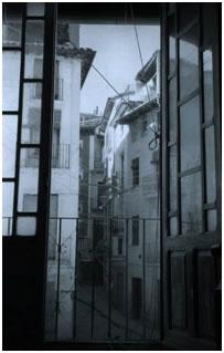 Blick vom Inneren des Hauses aus, in dem Josemaría Escrivá geboren wurde