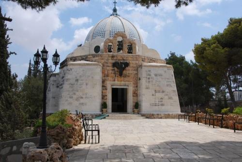 Sanctuaire du Gloria in excelsis Deo, à Siyar el-Ghanam. photo: Alfred Driessen.