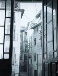 Blick aus dem Haus der  Escrivás in Barbastro nach draußen