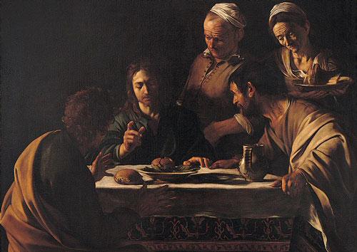 Obraz Caravaggia, Wieczerza w Emmaus