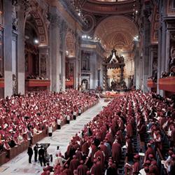 Imagen de una de las sesiones del Concilio Vaticano II