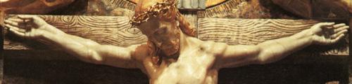 Détail de la Crucifixion, retable du sanctuaire de Torreciudad