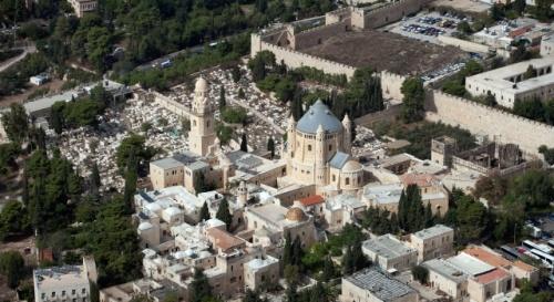 Une abbaye bénédictine est annexée à la basilique de la Dormition. Photo: Israel Tourism (Flickr)