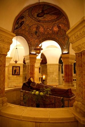 Le Tabernacle se trouve dans l'une des nombreuses chapelles qui  entourent la représentation de la Dormition .Photo: Israel Tourism (Flickr).