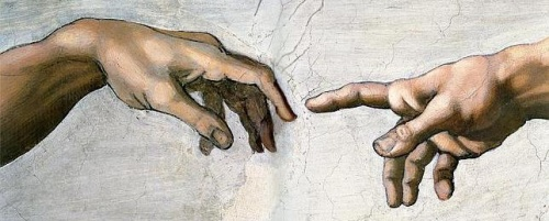 Stvaranje Adama, Michelangelo, Sikstinska kapela, Vatikan, detalj